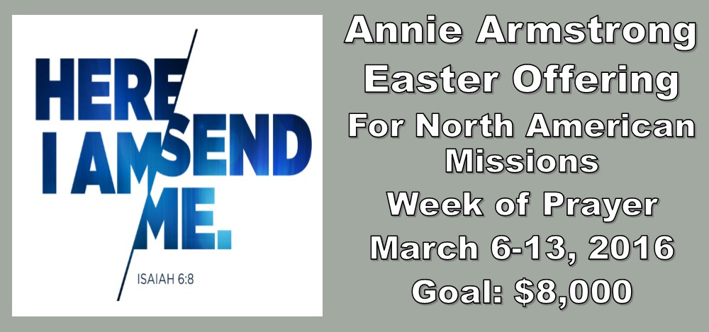 Annie Armstrong Week of Prayer for NAM