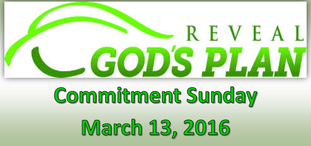 Reveal God's Plan Commitment Sunday
