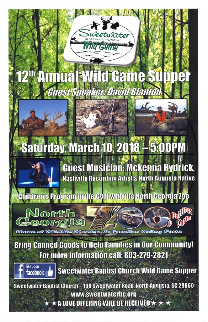Wild Game Supper 2018 Poster